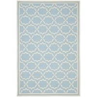 Safavieh Moroccan Light Blue/Ivory Reversible Dhurrie Wool Area Rug - 10' x 14'