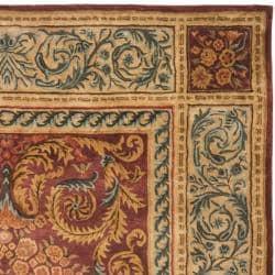 Safavieh Handmade Aubusson Bonnelles Red/ Beige Wool Rug (5' x 8') - Thumbnail 1