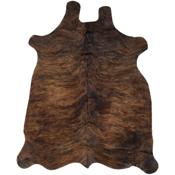 Safavieh Handpicked Hacienda Argentinian Casual Brown Cowhide Leather Rug  (4u0027 X 6u0027)   Free Shipping Today   Overstock.com   13792193