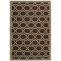 Safavieh Hand-woven Moroccan Reversible Dhurrie Chocolate/ Ivory Wool Rug - 10' x 14'