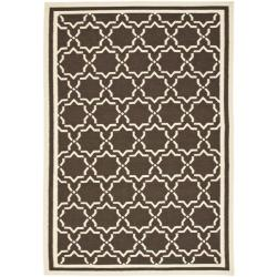 Safavieh Hand-woven Moroccan Reversible Dhurrie Chocolate/ Ivory Wool Rug (8' x 10') - Thumbnail 0