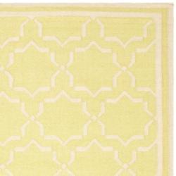 Safavieh Moroccan Light Green/Ivory Reversible Dhurrie Wool Area Rug (9' x 12') - Thumbnail 1