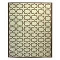 Safavieh Hand-woven Moroccan Reversible Dhurrie Light Blue/ Chocolate Wool Rug - 9' x 12'