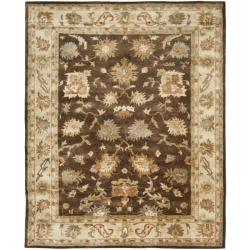 Safavieh Handmade Zeigler Brown/ Ivory Hand-spun Wool Rug (5' x 8')