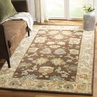 "Safavieh Handmade Zeigler Brown/ Ivory Hand-spun Wool Rug - 9'6"" x 13'6"""