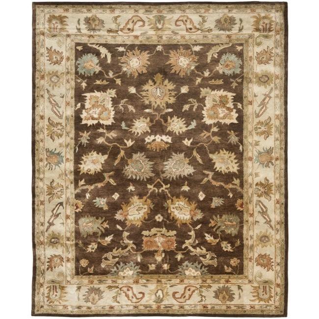Safavieh Handmade Zeigler Brown/ Ivory Hand-spun Wool Rug (8' x 10')