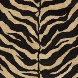 Safavieh Handmade Zebra Beige Hand-spun Wool Rug (6' x 9')