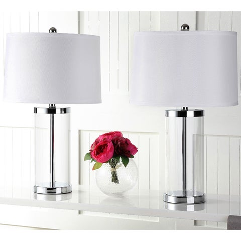 Safavieh Lighting 25.5-inch Glass Exquisite Table Lamp (Set of 2)