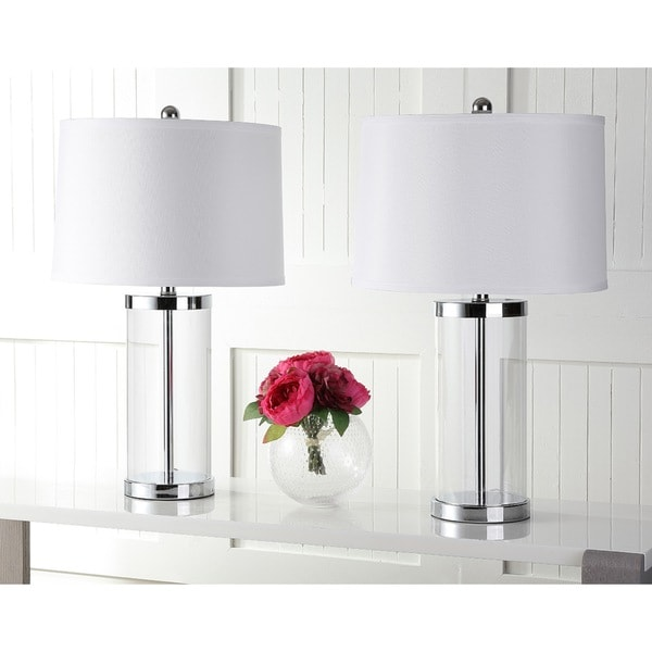Exquisite Lighting Safavieh Lighting 255inch Glass Exquisite Table Lamps Set Of 2 N