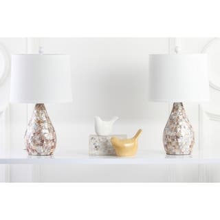Safavieh Lighting 20.5-inch Mother of Pearl Table Lamps (Set of 2)|https://ak1.ostkcdn.com/images/products/6128550/P13792218.jpg?impolicy=medium