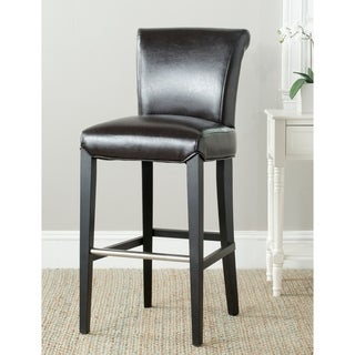 Safavieh Betheny Brown Leather 29-inch Bar Stool
