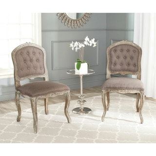Safavieh Old World Dining Royalty Antiqued Tufted Dining Chairs (Set of 2)