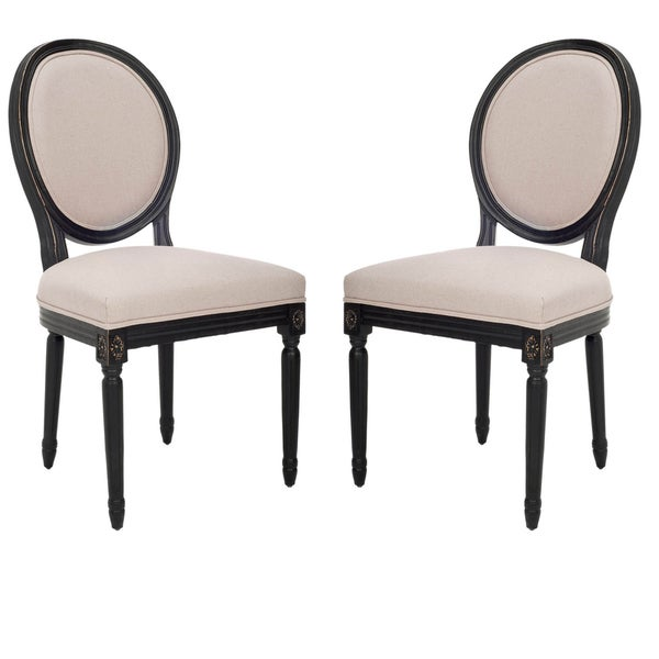 Safavieh Old World Dining French Royale Oval Antique Black Dining Chairs (Set of 2)