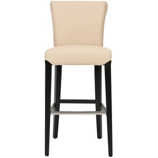 Safavieh Betheny Cream Leather 29-inch Bar Stool