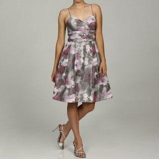 Eliza J Women's Skinny Strap Teired Pleated Dress