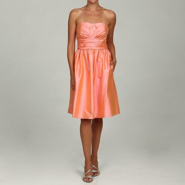 Eliza J Women's Pink Ruche Waistband Dress