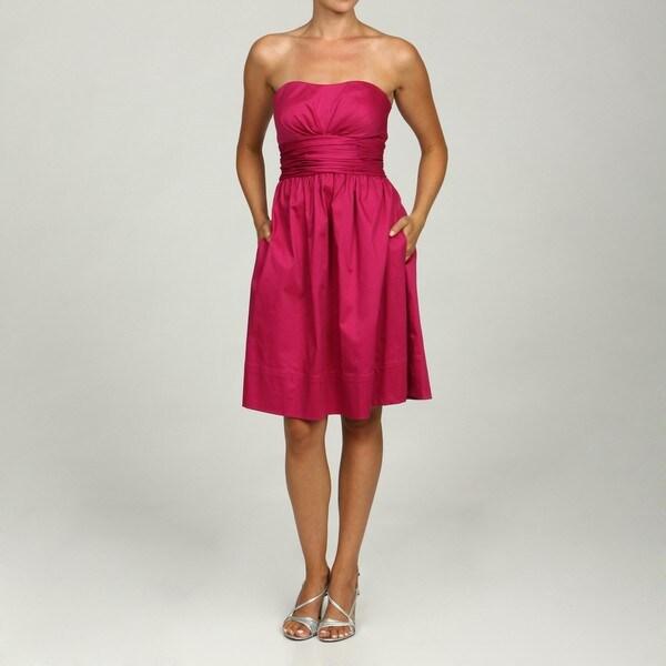 0b93307d67625 Shop Eliza J Women's Fuchsia Strapless Party Dress - Free Shipping ...