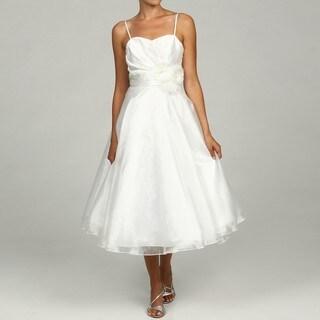 Eliza J Women's Ivory Strapless Flower Dress FINAL SALE