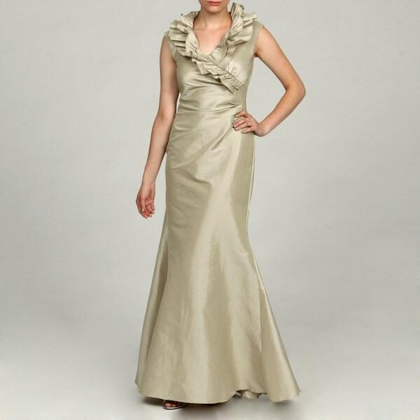 Eliza J Women's Ruffle Front Shirred Long Dress