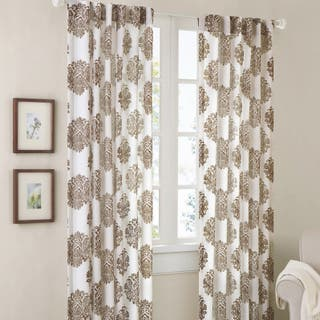 Madison Park Emerson Damask 95 Inch Curtain Panel
