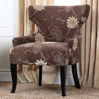 Abbyson Bayview Espresso Fabric Lounge Chair