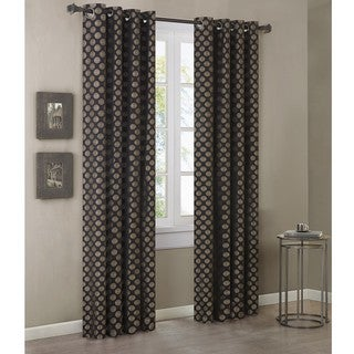 Madison Park Reed Gold/ Black 95-inch Curtain Panel