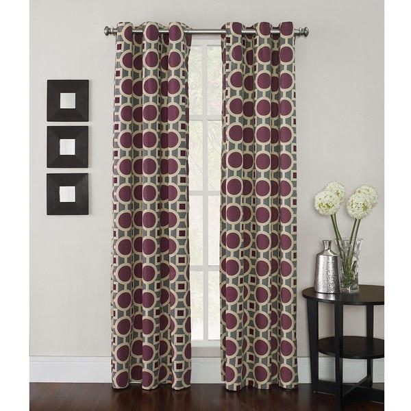 Geometric 95-inch Conspiracy Curtain Panel