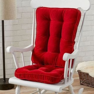 Scarlet Microfiber Reversible Chair Cushion Set