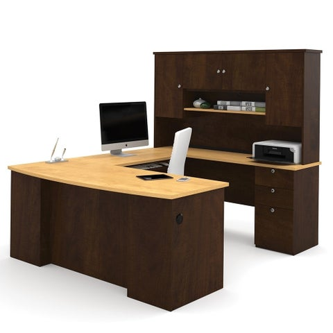Bestar Manhattan U-shaped Workstation Desk