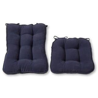 Link to Greendale Home Fashions Denim Hyatt Rocking Chair Cushion Set Similar Items in Table Linens & Decor