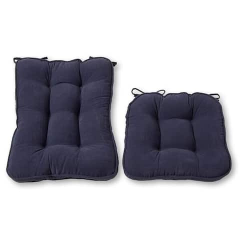 Greendale Home Fashions Denim Hyatt Rocking Chair Cushion Set