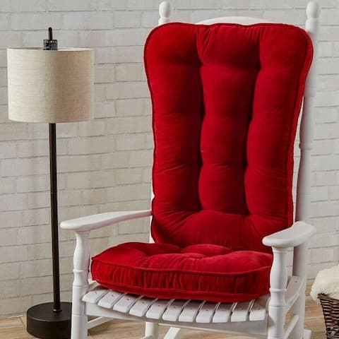 Greendale Home Fashions Scarlet Hyatt Jumbo Rocking Chair Cushion Set