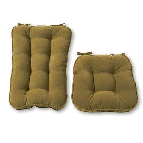Greendale Home Fashions Moss Hyatt Jumbo Rocking Chair Cushion Set