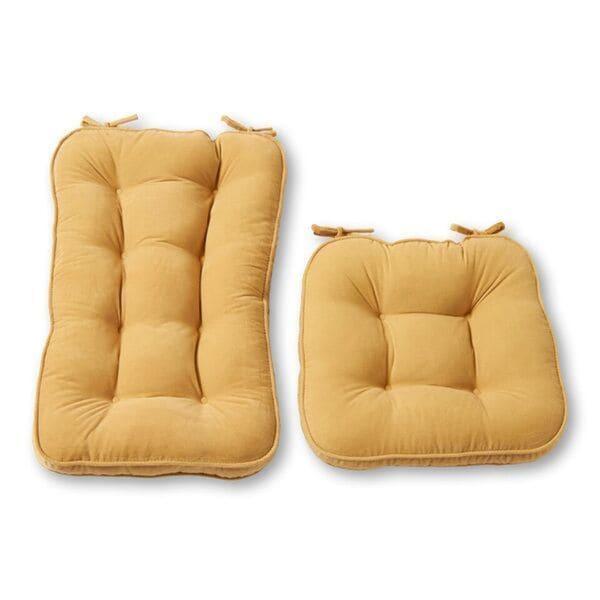 Greendale Home Fashions Cream Hyatt Jumbo Rocking Chair Cushion Set