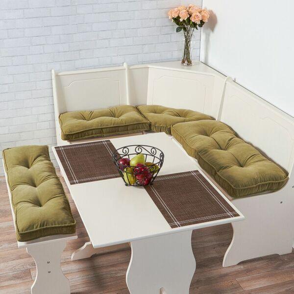 Moss Microfiber 4-piece Nook Cushion Set