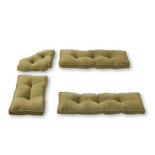 Moss Microfiber 4-piece Nook Cushion Set