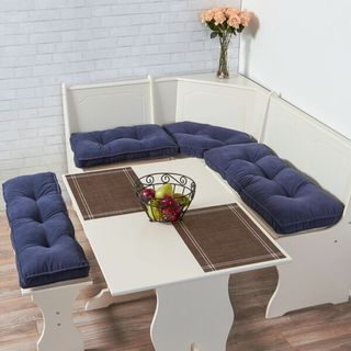 Denim Microfiber 4-piece Nook Cushion Set