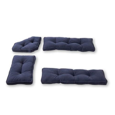 Greendale Home Fashions Denim Hyatt 4-pc. Nook Cushion Set
