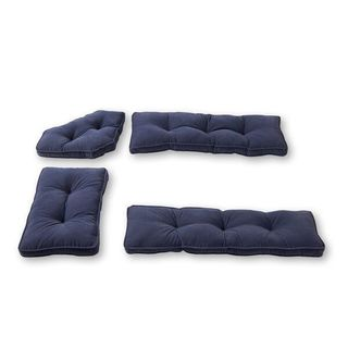 Denim Microfiber 4-piece Nook Cushion Set