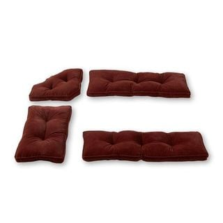 Burgundy Microfiber 4-piece Nook Cushion Set