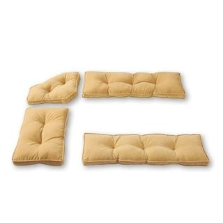 Cream Microfiber 4-piece Nook Cushion Set