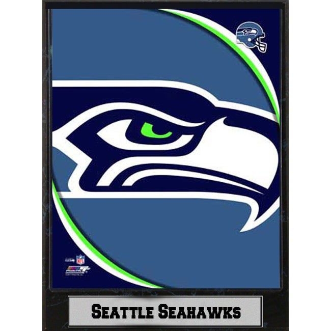 2011 Seattle Seahawks 9x12-inch Logo Plaque - Thumbnail 0