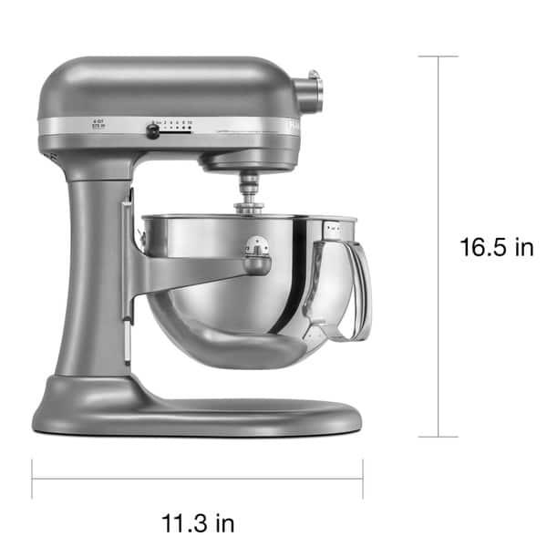 Shop KitchenAid RKP26M1XCU Contour Silver 6-quart Pro 600 ...