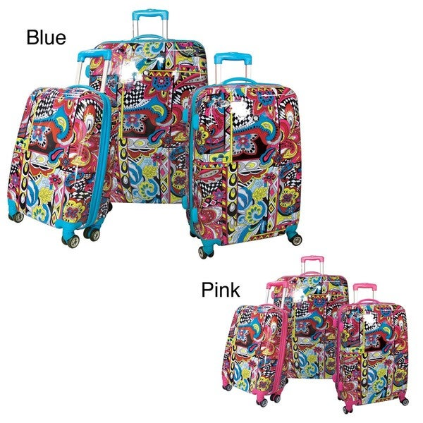 Olympia Pierre 3-piece Hardside Expandable Spinner Luggage Set