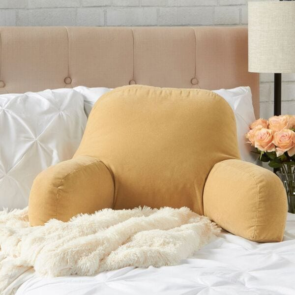 Greendale Home Fashions Cream Hyatt Bed Rest Pillow. Opens flyout.