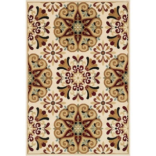 Chime Ivory/ Multi Area Rug (7'7 x 10'6)