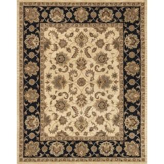 Hand-tufted Mason Beige/ Black Wool Rug (7'9 x 9'9)