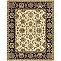 Hand-tufted Mason Beige/ Black Wool Rug (8' x 11')