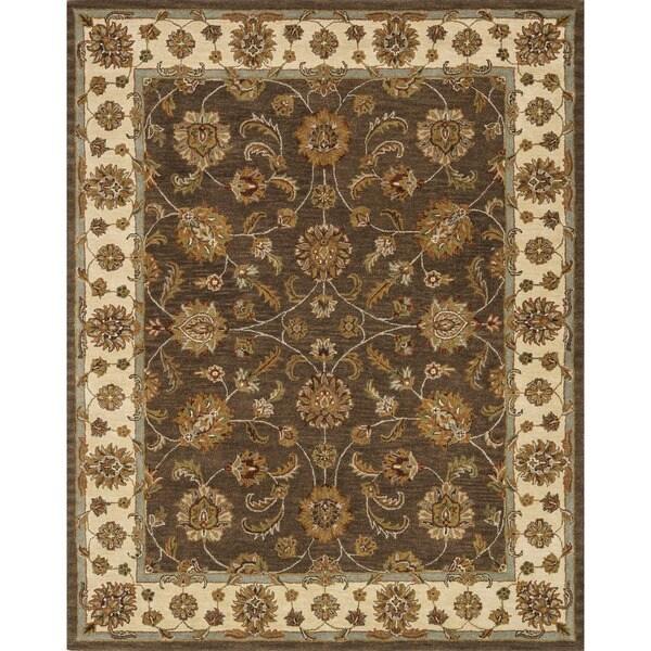 Hand-tufted Mason Brown/ Beige Wool Rug (8' x 11')