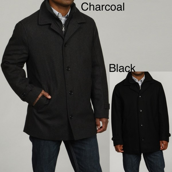 London Fog Men's Wool Blend Car Coat FINAL SALE - Free Shipping ...